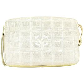 Chanel Beige x Gold New Line Cosmetic Pouch 572cas614