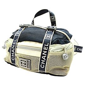 Chanel Belt Cc Sports Logo Mesh Fanny Pack Waist Pouch 236837 Grey Leather Weekend/Travel Bag