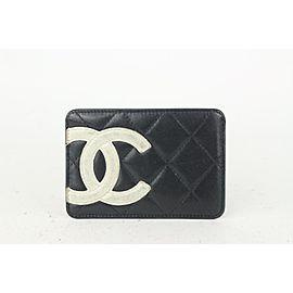 Chanel Black Quilted Cambon Ligne Card Holder Wallet case 820cas8