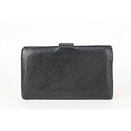 Chanel Black Caviar Leather CC Logo Flap Long Wallet 86cas71