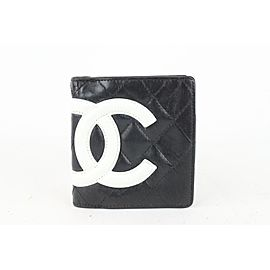 Chanel Black Quilted Cambon CC Compact Wallet 28cas722