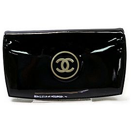Chanel Black CC Logo Patent Flap Wallet 862472