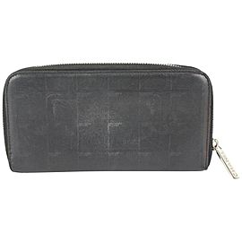Chanel Black Leather New Line Zip Around L-Gusset Wallet 818ca55