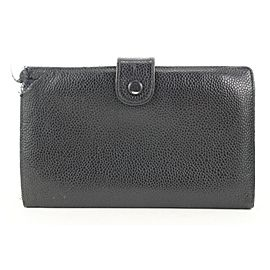 Chanel Black Caviar CC Logo Flap Long Wallet 8ct114
