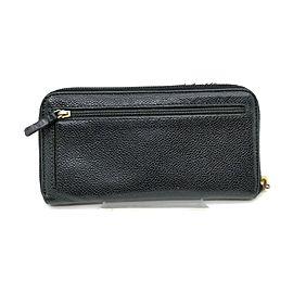 Chanel Black Caviar Leather Zippy Long Wallet L-Gusset 863421