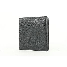 Chanel Black Quilted Caviar Leather Bifold Men's Wallet 667cas618