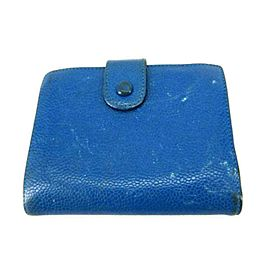 Chanel Blue Caviar Cc Bifold Snap 232490 Wallet