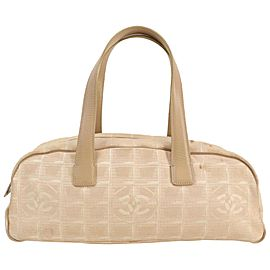 Chanel Beige New Line Boston Bag 862595