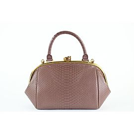 Chanel Boy Bowling Python Large Retro Donna 6ccdg8917 Mauve Leather Shoulder Bag