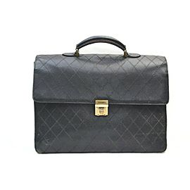 Chanel Black Quilted Caviar Leather Attache Briefcase 862467