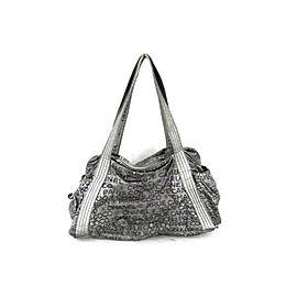 Chanel Cambon Hobo 232108 Silver Pvc Shoulder Bag