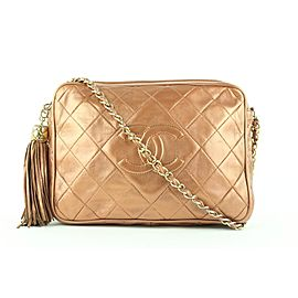 Chanel Quilted Copper Lambskin Fringe Tassel Camera Crossbody Bag 563cks311
