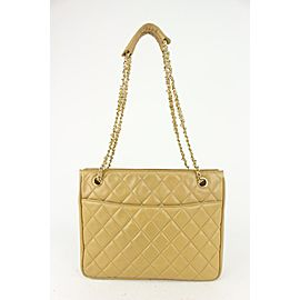 Chanel Beige Quilted Lambskin ShopperTote Chain Bag 593cas615
