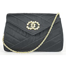 Chanel Satin Crystal CC Mini Flap Crossbody 11CK1219