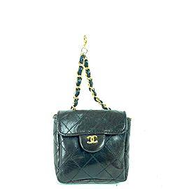 Chanel Classic Flap Nano Pouch Mini Bum Belt Quilted 1cc716 Dark Brown Lambskin Leather Clutch