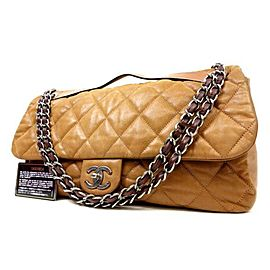 Chanel Classic Flap XL Special 223640 Light Brown Leather Shoulder Bag