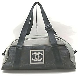 Chanel Grey Bicolor Sports Logo CC Duffle Bag 862873
