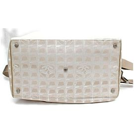 Chanel Duffle Line Boston with Strap Carry-on872825 Beige Nylon Weekend/Travel Bag