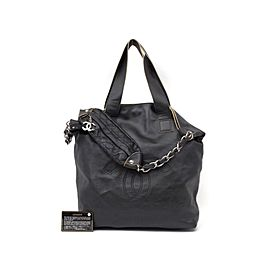 Chanel Extra Large Motocross Jumbo 2way Cc 235517 Black Leather Tote