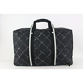 Chanel Black Graffiti New Line Travel Briefcase or Suitcase 827cas94