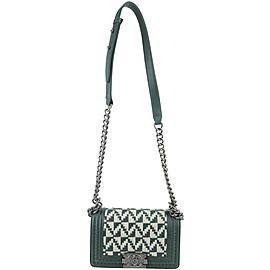 Chanel Handbag Boy Small 1ck1127 Green Leather Cross Body Bag