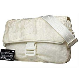 Chanel Ivory Sports Logo Jumbo Classic Flap Crossbody Bag 211857