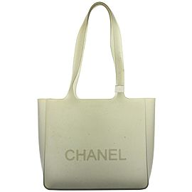Chanel Translucent Rubber Black/Grey Rubber Tote Bag 32cas422