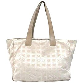 Chanel Line 234754 Beige Canvas Tote