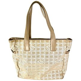 Chanel Beige New Line Tote GM Shopper 3C858