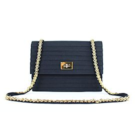 Chanel Mademoiselle ( Ultra Rare ) Quilted Chain Flap 222335 Black Nylon Shoulder Bag