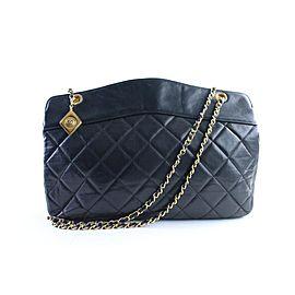 Chanel Medallion Chain Tote 14cr0515 Black Leather Shoulder Bag