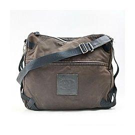 Chanel Brown CC Logo Sports Messenger Crossbody Bag 863289