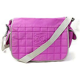 Chanel Messenger Quilted Cc Sports Logo Flap 871850 Pink Nylon Cross Body Bag