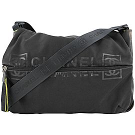Chanel Black Sports Logo CC Messenger Crossbody 303ccs217