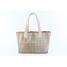 Chanel New Line Shopper 12cz0629 Bronze Canvas Tote