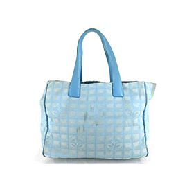 Chanel New Line Travel 225610 Blue Coated Canvas Tote
