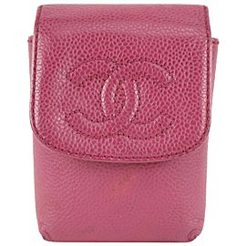 Chanel Pink Caviar Leather Cigarette or Mobile Case 916cas82