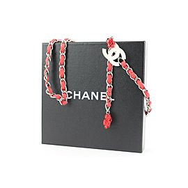 Chanel 04P Red Camellia Chain Belt or Floral Necklace 717ccs323