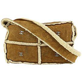 Chanel Brown Shearling CC Shoulder Bag 18cas721