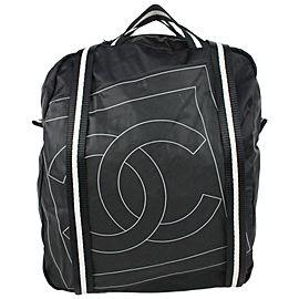 Chanel Black CC Logo Sports Lin Backpack Convertible Tote Bag 72cas726