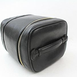 Chanel Vanity Case Lambskin Quilted Tote 869949 Black Leather Clutch