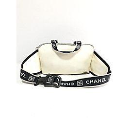 Chanel Grey Sports Line CC Waist Bag Belt Pouch Fanny Pack 240171