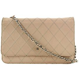 Chanel Pink Quilted Whip Stitch Wallet on Chain Classic Flap Bag 330cas519