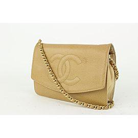 Chanel Nude Beige Caviar Leather Wallet on Chain Flap Crossbody Bag 152cas78