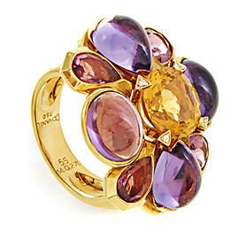 Chanel 18K Yellow Gold Multi-Gemstone Cocktail Ring