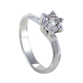 Chimento 18K White Gold Engagement Ring Size 7.0