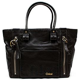 Chloé 871997 Eclipse Dark Brown Leather Tote