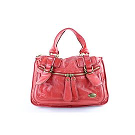 Chloé Bay 2mr1024 Red Leather Shoulder Bag