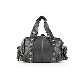 Chloé Black Leather Silverado Boston Bag 408chloe31