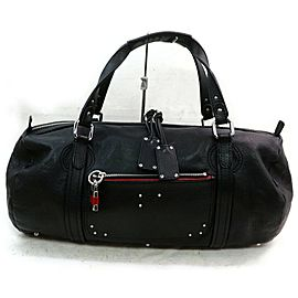 Chloé Duffle Large Boston 872806 Black Leather Satchel